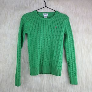 Lilly Pulitzer Green Cable Knit Sweater Small